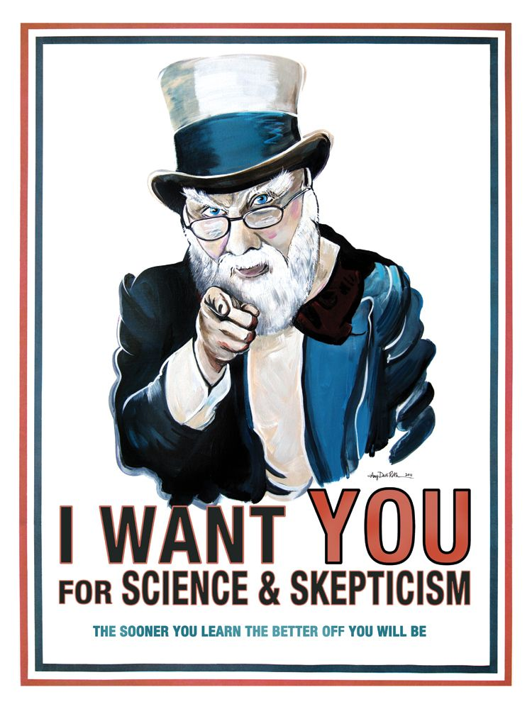 James Randi Poster by Amy Davis Roth