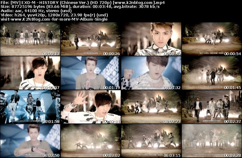 [MV] EXO-M - HISTORY (Chinese Ver.) [HD 720p Youtube]