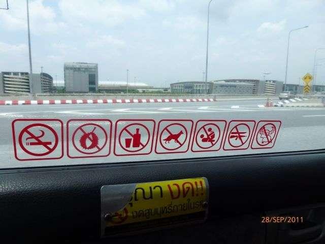 dieses Schild im Taxi hat uns besonders gefallen !!!